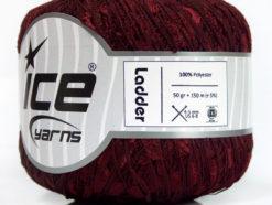 Lot of 6 Skeins Ice Yarns Trellis LADDER Hand Knitting Yarn Dark Burgundy