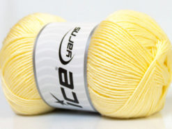 Lot of 4 x 100gr Skeins Ice Yarns BABY ANTIBACTERIAL (100% Antibacterial Dralon) Yarn Baby Yellow