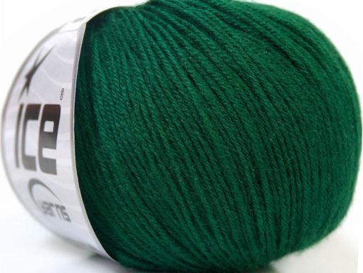 Lot of 6 Skeins Ice Yarns BABY MERINO (40% Merino Wool) Yarn Green