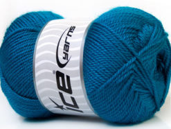 Lot of 4 x 100gr Skeins Ice Yarns DORA Hand Knitting Yarn Dark Teal