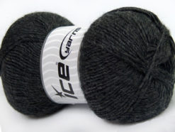 Lot of 4 x 100gr Skeins Ice Yarns MIRAGE (50% Wool) Yarn Dark Grey