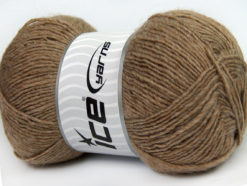Lot of 4 x 100gr Skeins Ice Yarns MIRAGE (50% Wool) Hand Knitting Yarn Camel
