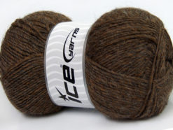 Lot of 4 x 100gr Skeins Ice Yarns MIRAGE (50% Wool) Yarn Brown Melange