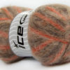 Lot of 4 x 100gr Skeins Ice Yarns BERMUDA MOHAIR (70% Mohair) Yarn Brown Shades Copper