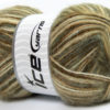 Lot of 4 x 100gr Skeins Ice Yarns ANGORA SUPREME COLOR (70% Angora) Yarn Green Camel White