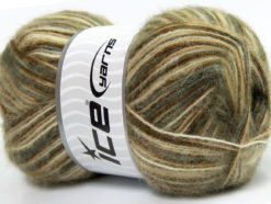 Lot of 4 x 100gr Skeins Ice Yarns ANGORA SUPREME COLOR (70% Angora) Yarn Green Camel White