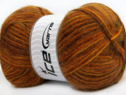 Lot of 4 x 100gr Skeins Ice Yarns ANGORA SUPREME COLOR (70% Angora) Yarn Brown Gold Copper Orange