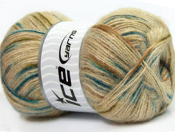 Lot of 4 x 100gr Skeins Ice Yarns ANGORA SUPREME COLOR (70% Angora) Yarn Beige Blue Brown