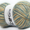 Lot of 4 x 100gr Skeins Ice Yarns ANGORA SUPREME COLOR (70% Angora) Yarn Blue Beige Cream
