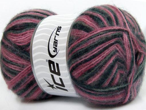Lot of 4 x 100gr Skeins Ice Yarns ANGORA SUPREME COLOR (70% Angora) Yarn Black Grey Pink Shades