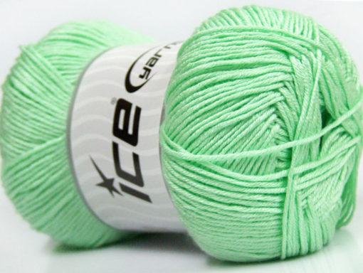 Lot of 4 x 100gr Skeins Ice Yarns BABY ANTIBACTERIAL (100% Antibacterial Dralon) Yarn Mint Green