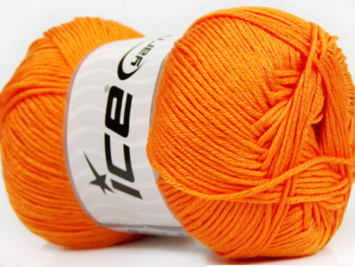 Lot of 4 x 100gr Skeins Ice Yarns BABY ANTIBACTERIAL (100% Antibacterial Dralon) Yarn Orange