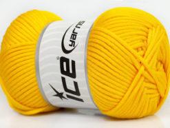 Lot of 4 x 100gr Skeins Ice Yarns TUBE VISCOSE (73% Viscose) Yarn Yellow