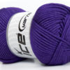 Lot of 4 x 100gr Skeins Ice Yarns TUBE VISCOSE (73% Viscose) Yarn Purple