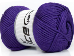 Lot of 4 x 100gr Skeins Ice Yarns TUBE VISCOSE (73% Viscose) Yarn Purple