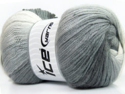 Lot of 4 x 100gr Skeins Ice Yarns MAGIC LIGHT Yarn Grey Shades White