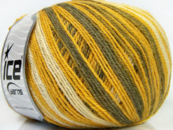 Lot of 4 x 100gr Skeins Ice Yarns ALPACA FINE MAGIC (25% Alpaca 35% Wool) Yarn Olive Green Yellow White Khaki