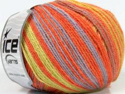 Lot of 4 x 100gr Skeins Ice Yarns ALPACA FINE MAGIC (25% Alpaca 35% Wool) Yarn Salmon Lilac Green Yellow