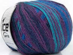 Lot of 4 x 100gr Skeins Ice Yarns ALPACA FINE MAGIC (25% Alpaca 35% Wool) Yarn Purple Maroon Blue Turquoise