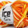 Lot of 8 Skeins Ice Yarns VIOLINO Hand Knitting Yarn Orange Cream Yellow