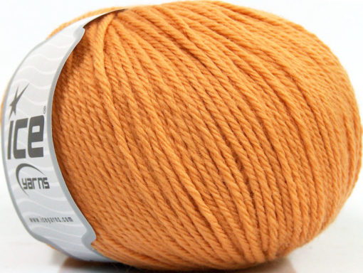 Lot of 4 x 100gr Skeins Ice Yarns PURE WOOL (100% Wool) Yarn Light Orange