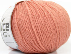 Lot of 4 x 100gr Skeins Ice Yarns PURE WOOL (100% Wool) Yarn Light Salmon