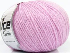 Lot of 4 x 100gr Skeins Ice Yarns PURE WOOL (100% Wool) Yarn Light Lilac