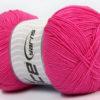 Lot of 4 x 100gr Skeins Ice Yarns LORENA SUPERFINE (55% Cotton) Yarn Dark Pink
