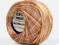 Lot of 6 Skeins Ice Yarns MIMOSA (100% MicroFiber) Yarn Beige Light Brown