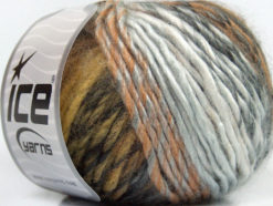 Lot of 8 Skeins Ice Yarns VIVID WOOL (60% Wool) Yarn Brown Shades Grey Shades