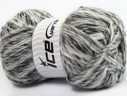 Lot of 4 x 100gr Skeins Ice Yarns MYSTIQUE (25% Wool) Yarn Grey Shades White