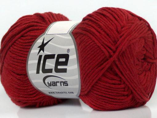 Lot of 8 Skeins Ice Yarns COTTON BAMBOO (50% Bamboo 50% Cotton) Yarn Burgundy