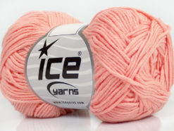 Lot of 8 Skeins Ice Yarns COTTON BAMBOO (50% Bamboo 50% Cotton) Yarn Light Salmon