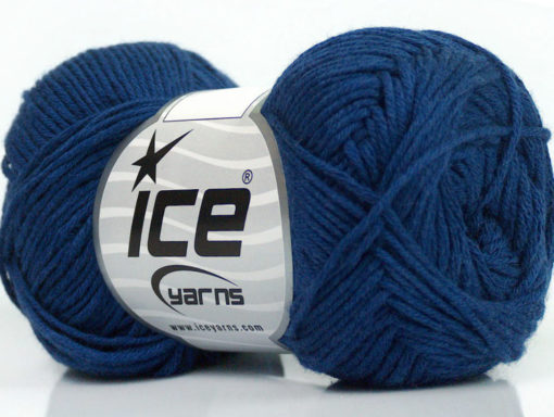 Lot of 8 Skeins Ice Yarns COTTON BAMBOO (50% Bamboo 50% Cotton) Yarn Blue