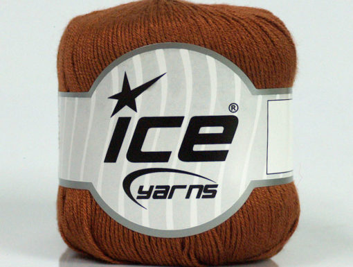 Lot of 8 Skeins Ice Yarns PURE BAMBOO (100% Bamboo) Hand Knitting Yarn Brown