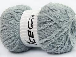 Lot of 4 x 100gr Skeins Ice Yarns PUFFY (100% MicroFiber) Yarn Grey