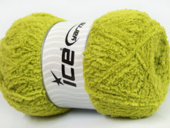 Lot of 4 x 100gr Skeins Ice Yarns PUFFY (100% MicroFiber) Yarn Green