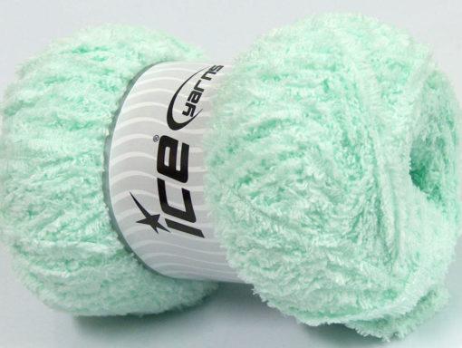 Lot of 4 x 100gr Skeins Ice Yarns PUFFY (100% MicroFiber) Yarn Light MintGreen