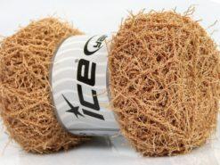 Lot of 4 x 100gr Skeins Ice Yarns SCRUBBER TWIST Hand Knitting Yarn Latte