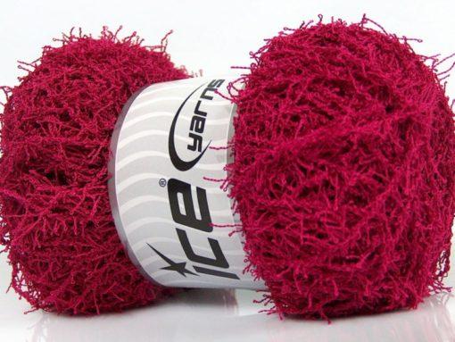 Lot of 4 x 100gr Skeins Ice Yarns SCRUBBER TWIST Hand Knitting Yarn Fuchsia
