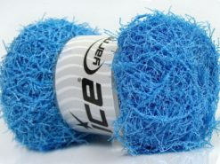 Lot of 4 x 100gr Skeins Ice Yarns SCRUBBER TWIST Hand Knitting Yarn Blue