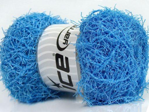Lot of 4 x 100gr Skeins Ice Yarns SCRUBBER TWIST Hand Knitting Yarn Blue