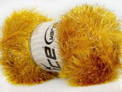 Lot of 4 x 100gr Skeins Ice Yarns EYELASH DAZZLE Hand Knitting Yarn Gold