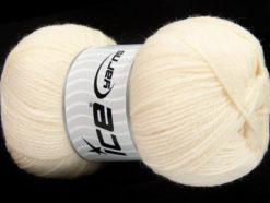 Lot of 4 x 100gr Skeins Ice Yarns VIRGIN WOOL DELUXE (100% Virgin Wool) Yarn Cream