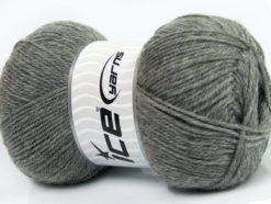 Lot of 4 x 100gr Skeins Ice Yarns VIRGIN WOOL DELUXE (100% Virgin Wool) Yarn Grey