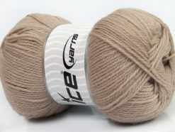 Lot of 4 x 100gr Skeins Ice Yarns VIRGIN WOOL DELUXE (100% Virgin Wool) Yarn Beige