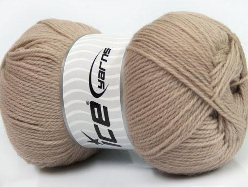 Lot of 4 x 100gr Skeins Ice Yarns VIRGIN WOOL DELUXE (100% Virgin Wool) Yarn Beige