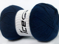 Lot of 4 x 100gr Skeins Ice Yarns VIRGIN WOOL DELUXE (100% Virgin Wool) Yarn Navy