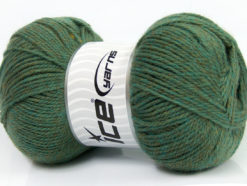 Lot of 4 x 100gr Skeins Ice Yarns VIRGIN WOOL DELUXE (100% Virgin Wool) Yarn Khaki Melange