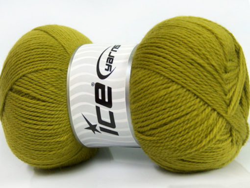 Lot of 4 x 100gr Skeins Ice Yarns VIRGIN WOOL DELUXE (100% Virgin Wool) Yarn Light Green